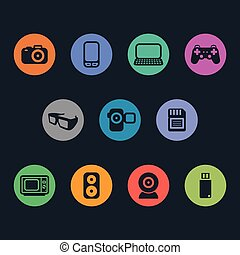 Multimedia Icons. Basics