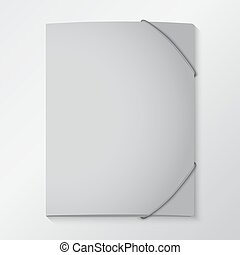 folders with elastic bands - Folders with elastic bands. EPS...