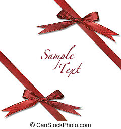 Red Wrapped Xmas Gift With Bows