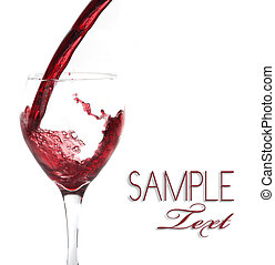 Glass of Pouring Wine Background With Copy Space for Text or...