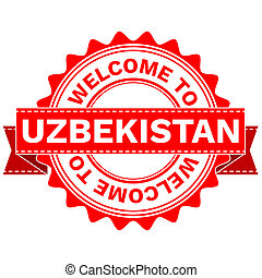Doodle of WELCOME TO COUNTRY UZBEKISTAN - Illustration...