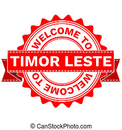 Doodle of WELCOME TO COUNTRY TIMOR LESTE - Illustration...