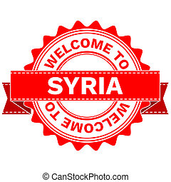Doodle of WELCOME TO COUNTRY SYRIA . JPEG . - Illustration...