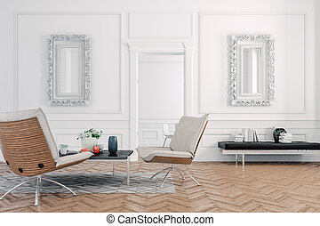 3d render of beautiful  interior