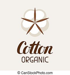 Cotton label. Emblem for clothing and production