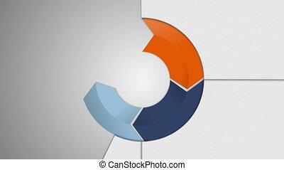 Circle diagram four result arrow box for presentation 2....