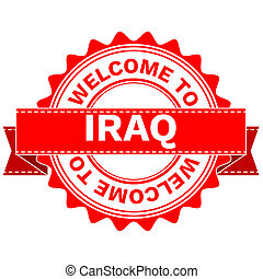Doodle of WELCOME TO COUNTRY IRAQ - Illustration Doodle of...