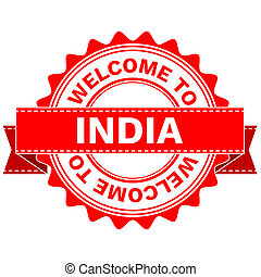 Doodle of WELCOME TO COUNTRY INDIA . JPEG . - Illustration...