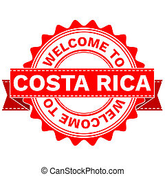 Doodle of WELCOME TO COUNTRY COSTA RICA - Illustration...