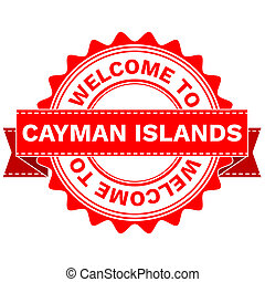 Doodle of WELCOME TO COUNTRY CAYMAN ISLANDS - Illustration...