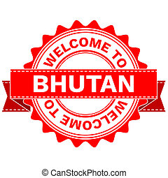 Doodle of WELCOME TO COUNTRY BHUTAN . JPEG . - Illustration...