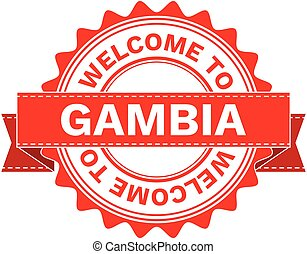 Vector Illustration Doodle of WELCOME TO COUNTRY GAMBIA ....