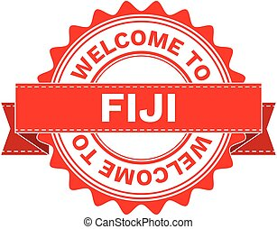 Vector Illustration Doodle of WELCOME TO COUNTRY FIJI . EPS8...