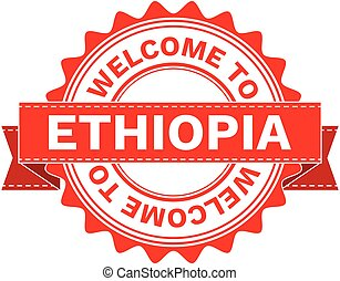 Vector Illustration Doodle of WELCOME TO COUNTRY ETHIOPIA
