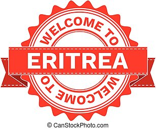 Vector Illustration Doodle of WELCOME TO COUNTRY ERITREA ....