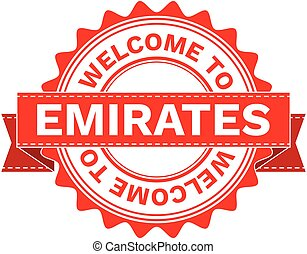 Vector Illustration Doodle of WELCOME TO COUNTRY EMIRATES ....