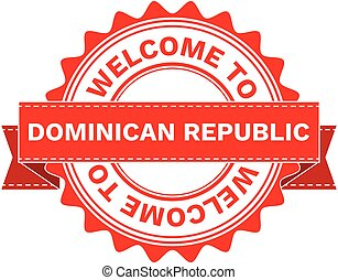 Vector Illustration Doodle of WELCOME TO COUNTRY DOMINICAN...