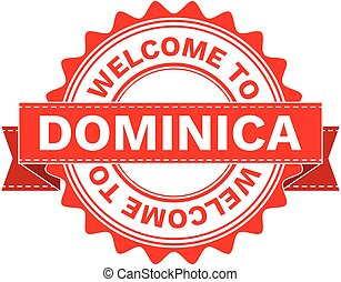 Vector Illustration Doodle of WELCOME TO COUNTRY DOMINICA ....