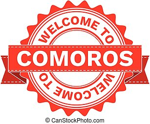 Vector Illustration Doodle of WELCOME TO COUNTRY COMOROS ....