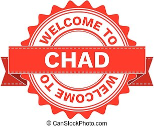 Vector Illustration Doodle of WELCOME TO COUNTRY CHAD . EPS8...