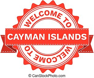 Vector Illustration Doodle of WELCOME TO COUNTRY CAYMAN...