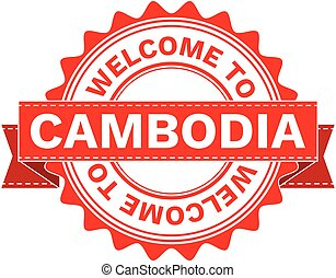 Vector Illustration Doodle of WELCOME TO COUNTRY CAMBODIA ....