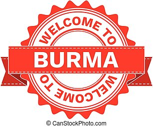 Vector Illustration Doodle of WELCOME TO COUNTRY BURMA ....