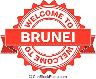 Vector Illustration Doodle of WELCOME TO COUNTRY BRUNEI ....