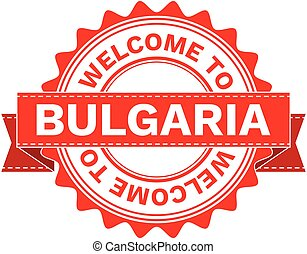 Vector Illustration Doodle of WELCOME TO COUNTRY BULGARIA ....