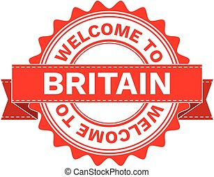 Vector Illustration Doodle of WELCOME TO COUNTRY BRITAIN ....