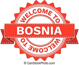 Vector Illustration Doodle of WELCOME TO COUNTRY BOSNIA ....