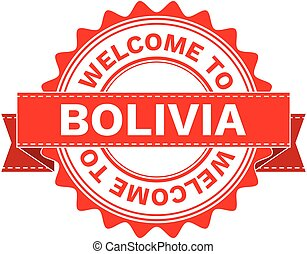 Vector Illustration Doodle of WELCOME TO COUNTRY BOLIVIA ....