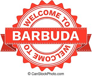 Vector Illustration Doodle of WELCOME TO COUNTRY BARBUDA