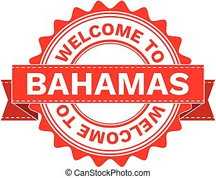 Vector Illustration Doodle of WELCOME TO COUNTRY BAHAMAS