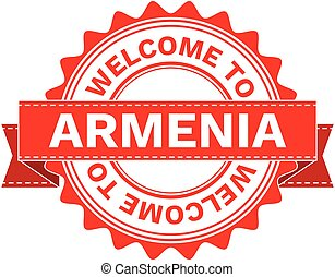 Vector Illustration Doodle of WELCOME TO COUNTRY ARMENIA ....