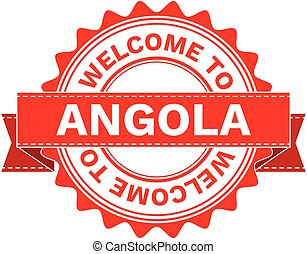Vector Illustration Doodle of WELCOME TO COUNTRY ANGOLA