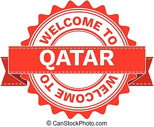 Vector Illustration Doodle of WELCOME TO COUNTRY QATAR ....