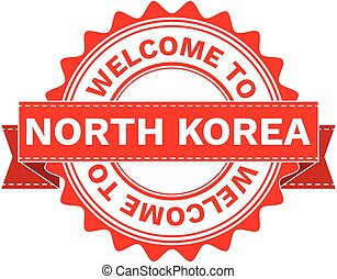 Vector Illustration Doodle of WELCOME TO COUNTRY NORTH KOREA...