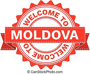 Vector Illustration Doodle of WELCOME TO COUNTRY MOLDOVA....