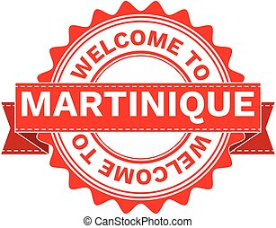 Vector Illustration Doodle of WELCOME TO COUNTRY MARTINIQUE....