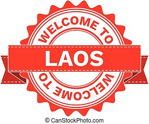 Vector Illustration Doodle of WELCOME TO COUNTRY LAOS