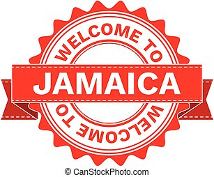 Vector Illustration Doodle of WELCOME TO COUNTRY JAMAICA....