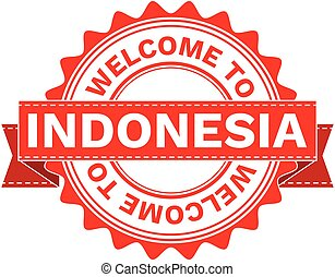 Vector Illustration Doodle of WELCOME TO COUNTRY INDONESIA.