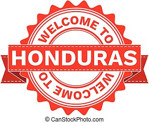 Vector Illustration Doodle of WELCOME TO COUNTRY HONDURAS....
