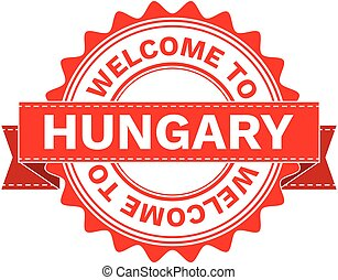 Vector Illustration Doodle of WELCOME TO COUNTRY HUNGARY....