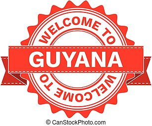 Vector Illustration Doodle of WELCOME TO COUNTRY GUYANA....