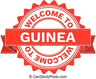 Vector Illustration Doodle of WELCOME TO COUNTRY GUINEA