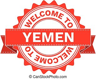 Illustration Doodle of WELCOME TO COUNTRY YEMEN.