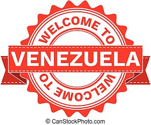 Vector Illustration Doodle of WELCOME TO COUNTRY VENEZUELA....