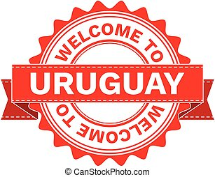 Vector Illustration Doodle of WELCOME TO COUNTRY URUGUAY ....